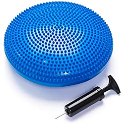 Black Mountain Products Exercise Balance Stability Disc with Hand Pump, Blue