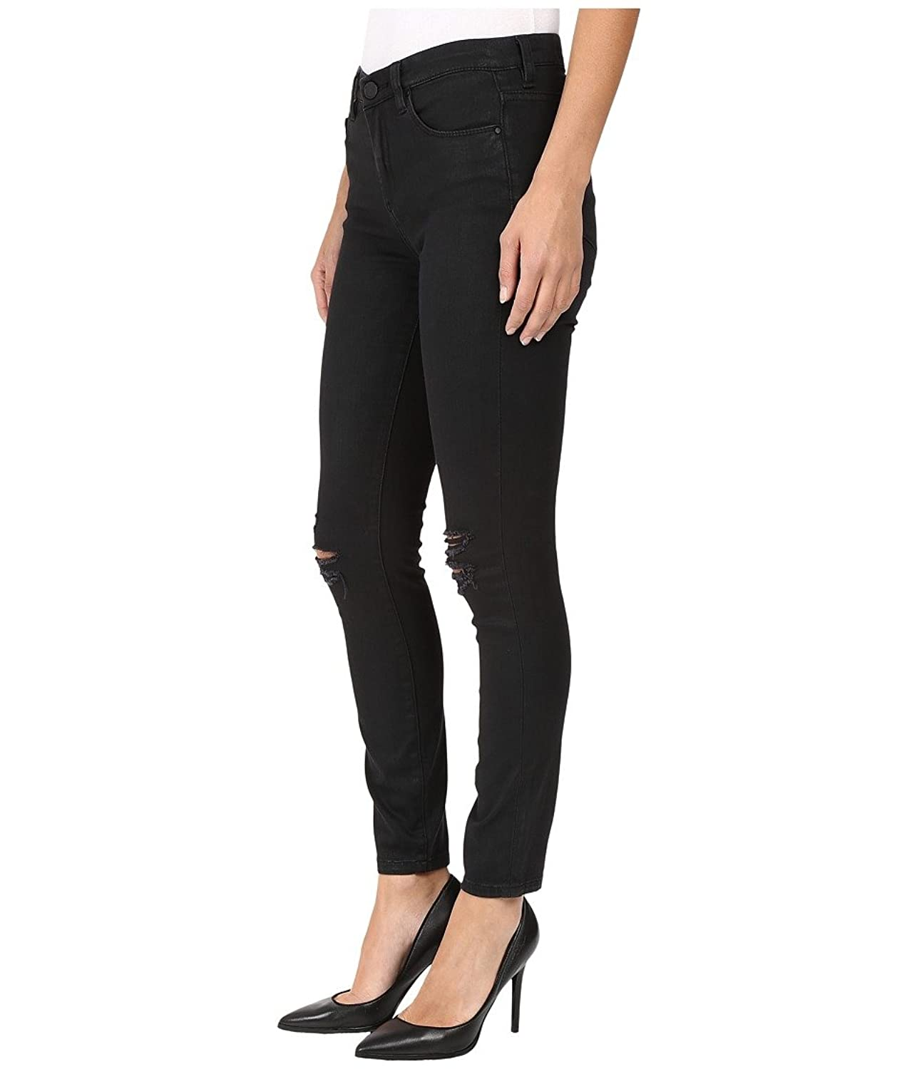 Blank NYC Women's Black Coated Skinny in All Lacquered Up All Lacquered Up Jeans 28 X 28