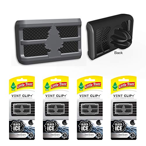 Little Trees CTK-52431-24 4 Pack Vent Clip Black Ice (1-Pack), 4 - Tree Ice