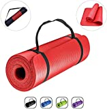 GJF Workout Mats Yoga Mat 6MM Thick Double Sided TPE Fitness Pad with Carry Bag and Strap Eco Friendly Non Slip Exercise Mat for Men Women Home Gym Pilates Meditation Stretching Size:183 X 61cm