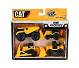 mini machines caterpillar - Caterpillar Mini Machines Gift Pack (Four Pieces), Yellow - Daron CAT18000 - Model Toy Construction Set