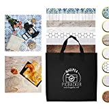 """Photo Backdrop Boards for Flat Lay & Food Photography. Realistic Looking, Durable, Waterproof & Non-Reflective. 19.7x19.7"""" Set with 7 Designs"""