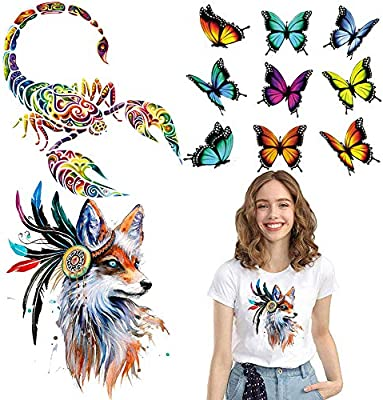 Butterfly Patches Heat Print On T-shirt Jeans Iron On Patches For ClothesYGRSDE