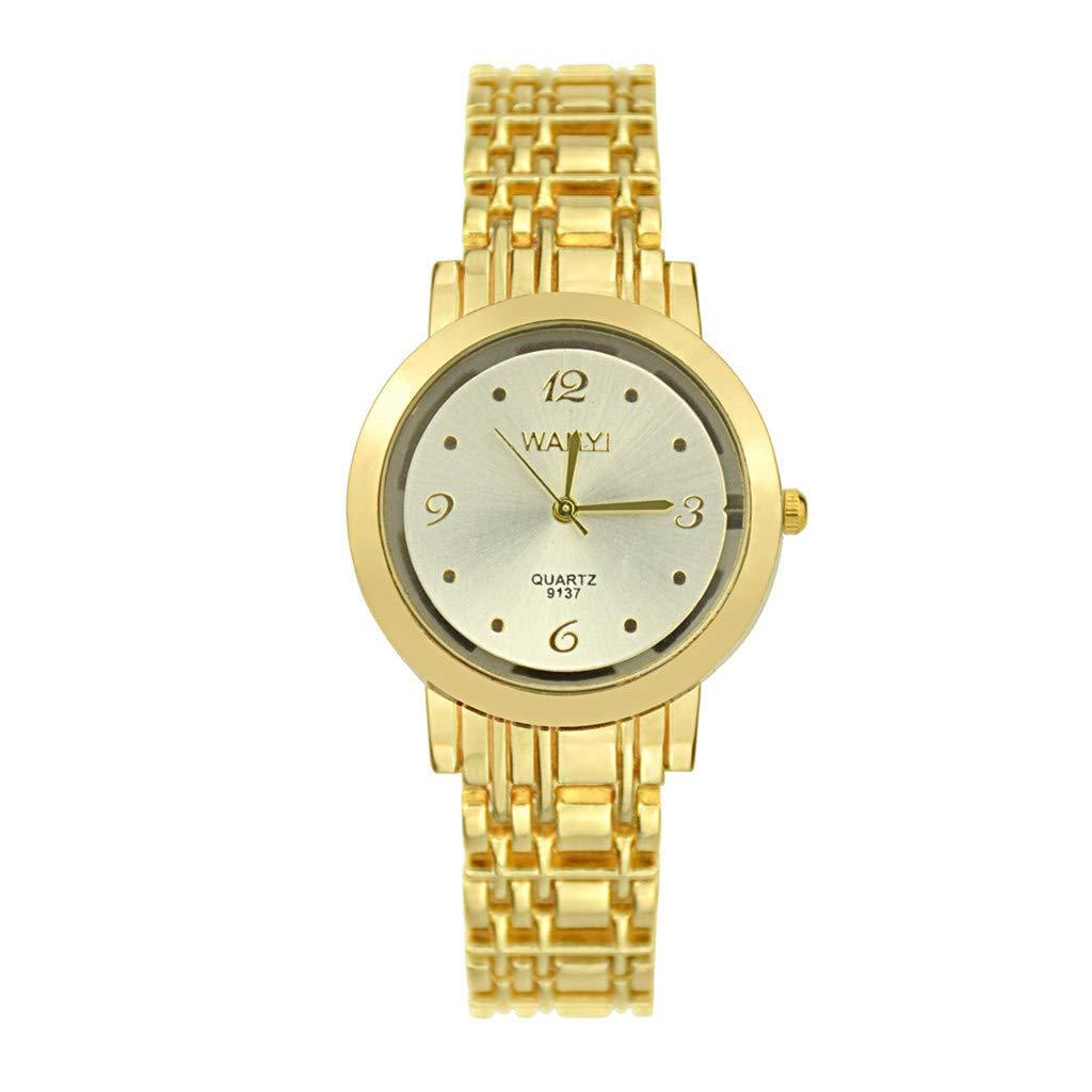 Worsworthy Relojes de Mujer Oro Moda Simple Dial Digital Oro Correa Fina Personalidad Reloj de Oro Reloj de Cuarzo Moda Casual Reloj: Amazon.es: Relojes