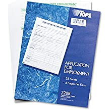 TOPS Comprehensive Application For Employment, 4 Pages per Form, 25 Form Sets per Pack (TOP3288), Model:TOP3288, Office Accessories & Supply Shop