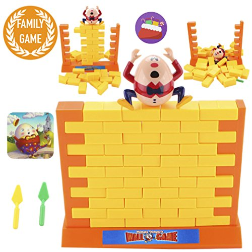 Humpty Dumpty's Wall Game, based on the Humpty Dumpty nursery rhyme, bring the bedtime story to life, perfect skill and action game, idea family game, best birthday gifts for kids 4 years and up by PinSpace