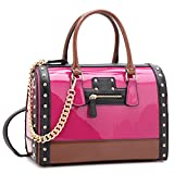 MKP Collection Shoulder handbag for woman. Holiday gift for woman. Fashion purse. Designer Satchel . (7370) Fuchsia