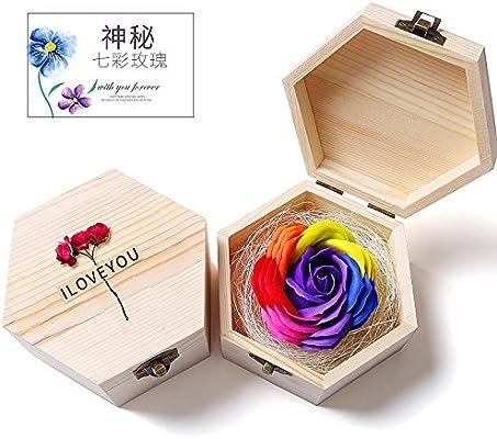 Flor eterna caja de regalo para los padres y amigos rose estilo de forma ,Color B: Amazon.es: Hogar