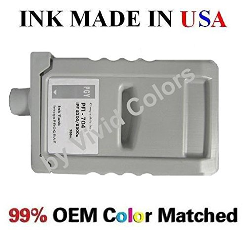 PFI-704 New Compatible cartridge for Canon IPF8300/8300s- Pigment Photo Gray (704 Pfi Photo)