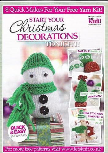Quick & Easy Christmas Decorations Fair Isle Baubles, Snowman ...