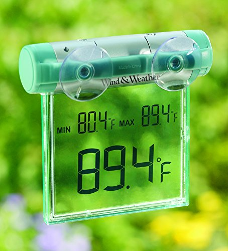 Weather-Resistant Digital Window Mounted Thermometer with Big Display