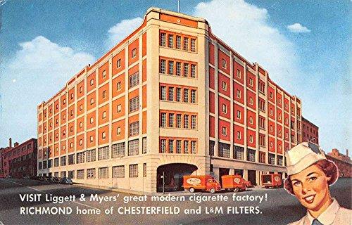 Richmond Virginia LM Cigarette Factory Street View Vintage Postcard K76754 (Cigarettes Virginia)