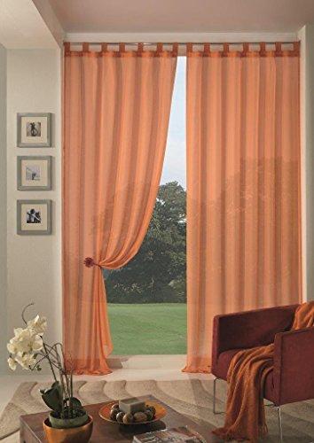Home Collection Boucle Tenda, Poliestere, Arancio, 140x290 cm