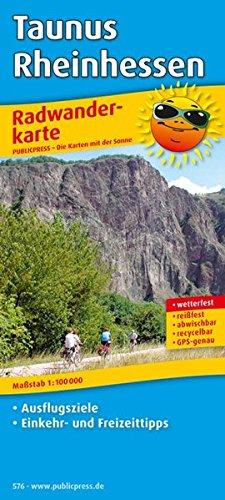 Taunus - Rheinhessen: Radwanderkarte mit Ausflugszielen, Einkehr- & Freizeittipps, wetterfest, reissfest, abwischbar, GPS-genau. 1:100000 (Radkarte / RK)