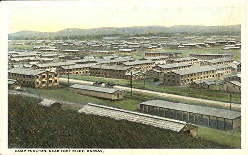 Camp Funston Fort Riley, Kansas Original Vintage Postcard