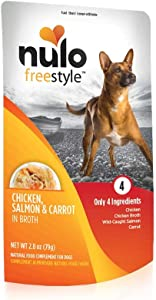 Nulo, Freestyle Puppy & Adult Chicken, Salmon & Carrot Recipe Dog Food Pouch, 2.8 oz