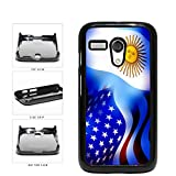 Argentina and USA Mixed Flag Plastic Phone Case Back Cover Motorola Moto G in...