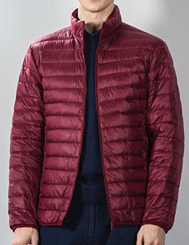 Uomo Eku Qualità Giù Packable Da Di Noi L Intemperie Rosso Piumino Cappotto Vino Alle RwxgzqCv