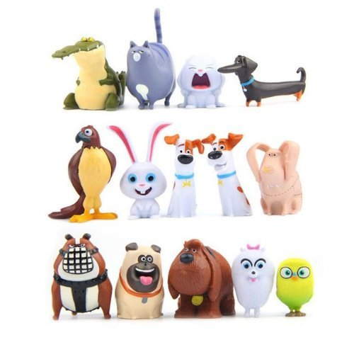 14 PCs The Secret Life of Pets PVC Figure Movie Toy Collection Gift