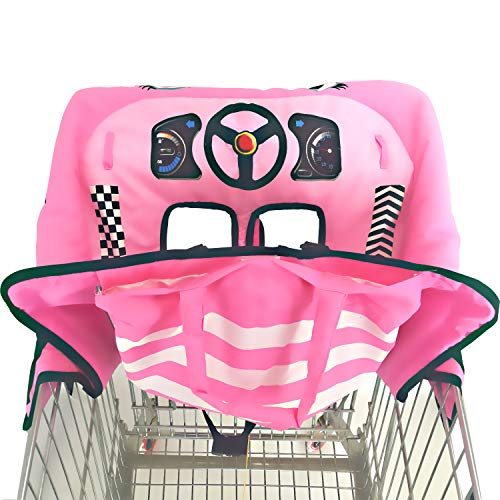Extra Padded, Shopping Cart Cover and High Chair Cover for Baby,Provides Protection, Great Quality for Comfort by SLW (Pink) from Sweet Little Whispers