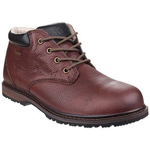 Embossed Waterproof Grain Leather Full Walking Mens Brown Cotswold Bredon Shoes Mens Hiking Leather qxvt6x8