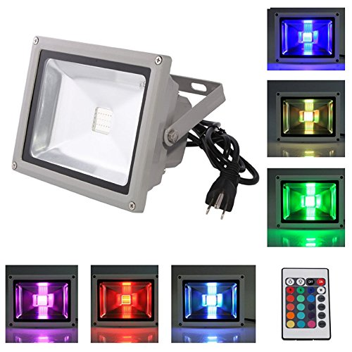 Cheap Choose Nice(TM) 10W High quality RGB Color Changing Waterproof LED FloodLight with Wireless Controller and US 3-Plug for Outdoor Hotel Garden