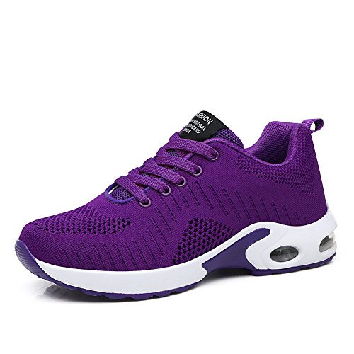 (FLARUT Running Shoes Womens Lightweight Fashion Soprt Sneakers Casual Walking Athletic Non Slip(Purple, EU42))