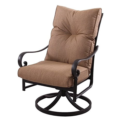Darlee Santa Anita Swivel Patio Chair in Antique Bronze (Set of 2) ()