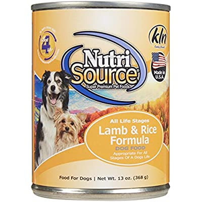 Tuffy'S Pet Food 131302 Tuffy Nutrisource 12-Pack Lamb And Rice Canned Food For Dogs, 13-Ounce