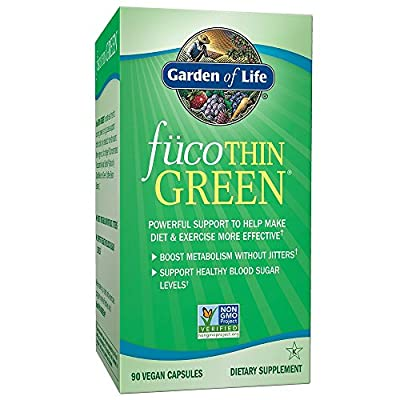 Garden of Life Fucoxanthin Supplements - FucoThin Green Diet Pill for Weight Loss with Green Coffee Bean Extract, 90 Capsules