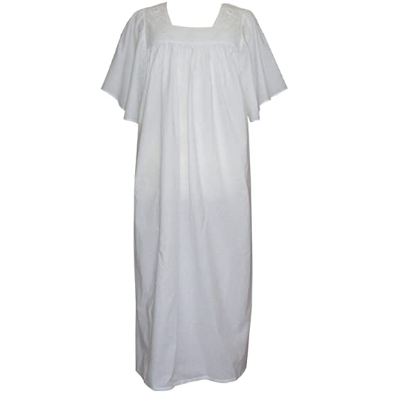587bcba322 Image Unavailable. Image not available for. Colour  Powell Craft Valentina Womens  Nightdress.100% Cotton.white