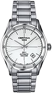 Certina DS - 1 - Reloj de pulsera hombre, acero inoxidable, color plateado