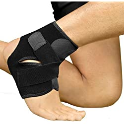 Bracoo Ankle Support, Reliable Stabilizer for Sport Injuries, with Breathable Neoprene Sleeve for Accelerated Recovery S/M