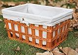 wooden clothes basket - Large Woodchip Basket Bin with Beige Liner