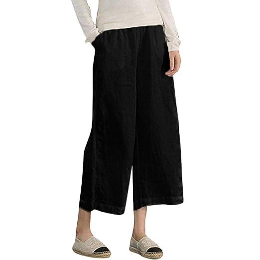 Amazon.com: OWMEOT Womens Casual Loose Plus Size Elastic Waist ...