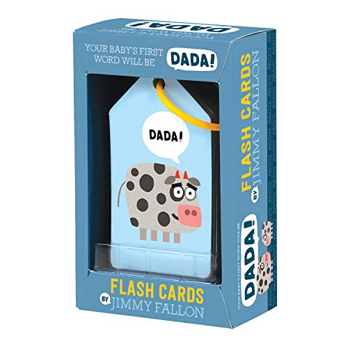 51OhY753l8L - Mudpuppy Jimmy Fallon Your Baby's First Word Will Be DaDa Flash Cards (First Words Flash Cards, for Toddlers, Baby Flash Cards)