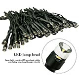 FARSIC Christmas Solar Led Fairy Lights - 40 ft Cable, 100 Lights, Waterproof - Ambiance lights for Outdoor, Patio, Fairy Garden, Home, Wedding, Christmas Party, Xmas Tree(Warm White)