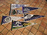 6 Different Colorado Rockies 1993 Inaugural Year, 1995,1996, 1997 Pennants Nice!