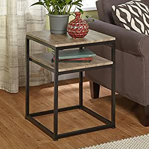 End Table Living Room Contemporary Modern Home Decor Side Accent Wrought Iron