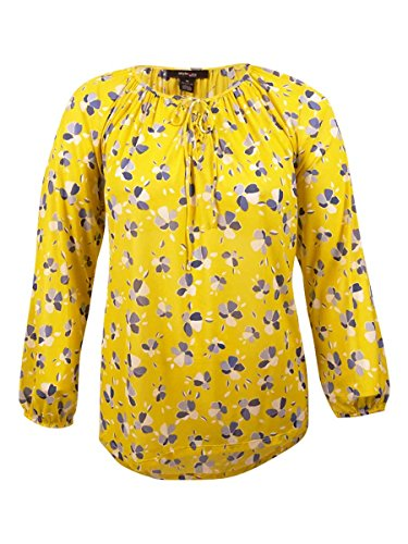 Style & Co. Womens Plus Nylon Floral Print Blouse Yellow 3X (. Style & Floral Co Blouse)