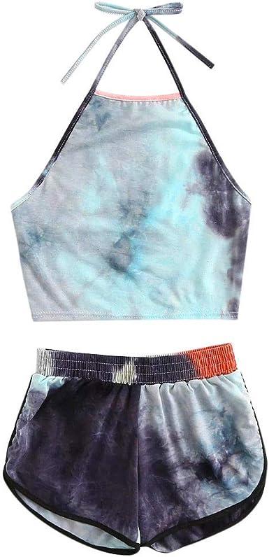 Toddler Girl/'s Size 5T Tie-Dye Tank and Pajama Shorts Set
