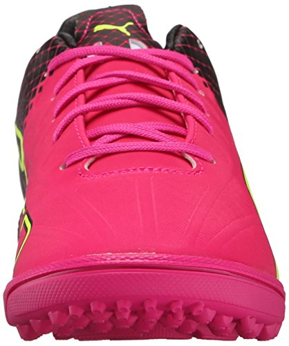 Puma Evospeed 4.5 trucos de zapatos de fútbol Tt Pink Glow/Safety Yellow