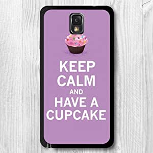 For Samsung Galaxy Note 3 Case, Keep Clam And Have A Cupcake Pattern Fashion Design Protective Hard Phone Cover Skin Case For Samsung Galaxy Note 3 N9000 + Screen Protector
