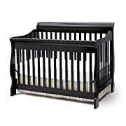 Delta Children Canton 4-in-1 Convertible Crib, Black