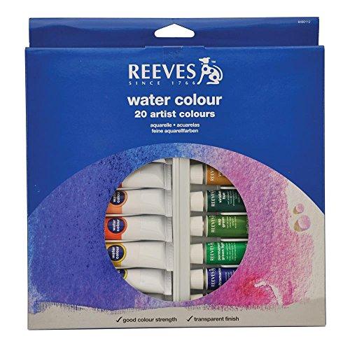Reeves 20-Pack Water Color Tube Set, 22ml ()