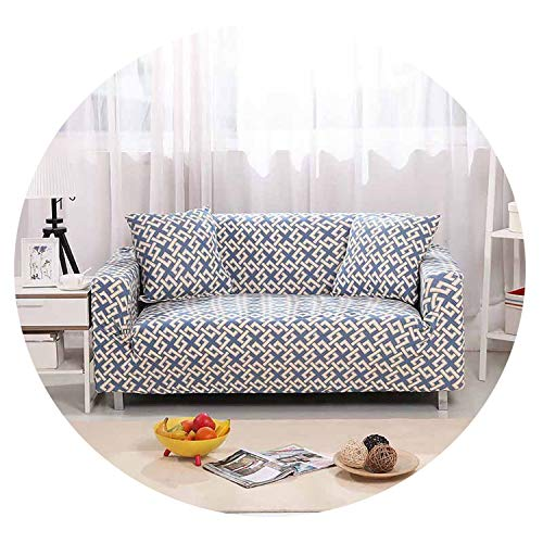 Stretch Sofa Cover All-Inclusive Sectional Couch Corner Cover for Living Room Furniture L Shape Love Seat Single/2/3/4-seater,Color 22,4-Seater ()