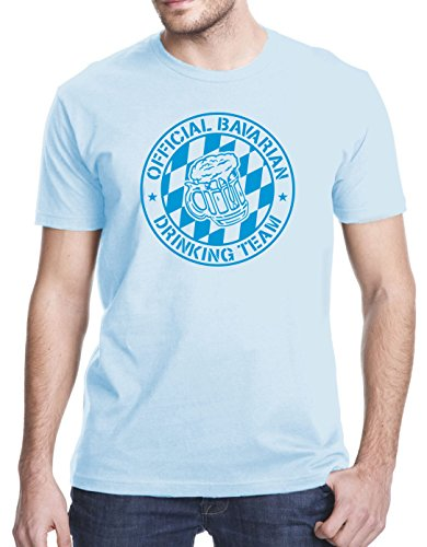 Official Bavarian Drinking Team T-Shirt, 3XL, Light Blue (T-shirt Light Drinking Team)
