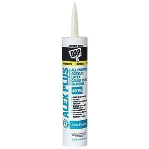 DAP Alex Plus Acrylic Latex Caulk, Antique White, 10.1 Oz (7079818172)