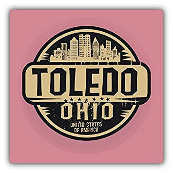 Toledo city usa grunge label home decal vinyl sticker 5