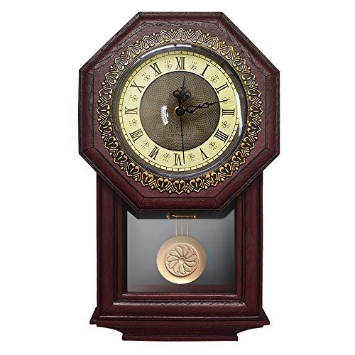 - LTTA Wall Clocks - Giftgarden Vintage Wall Clock Pendulum Antique Style Roman Numerals Grandfather Clock Home Decoration Accessories Number Clock 1 PCs